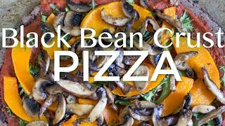 Black Bean Crust Pizza {Gluten Free & Vegan}