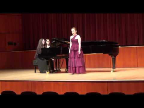 A set of three songs by American composer Lori Laitman, from Alicia's Undergraduate Senior Recital.