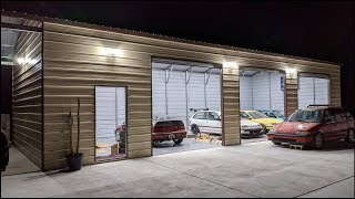 50x20 Garage Build Completion - FULL TOUR And COST BREAKDOWN