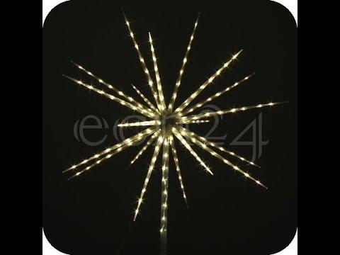 LED Stern 80 LEDs 60cm mit Feuerwerkeffekt