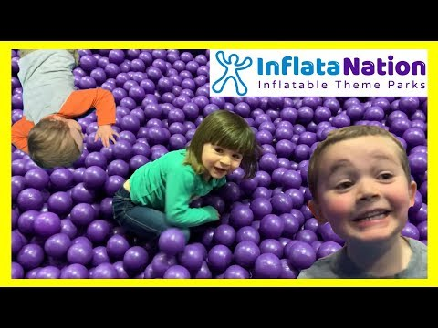 Super Fun HUGE Indoor Inflatable Playground for Kids - With Bounce House, Giant Slides and More!