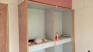 Latest Wardrobe Design For Bedroom ! 7×7.5 Wardrobe With Loft 6+ सुंदर अलमारी डिजाइन !