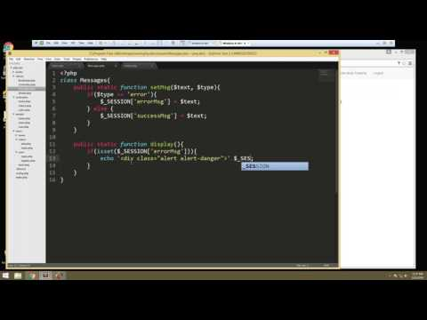 Learn How to Build a Complete PHP Application with Login – Video 4