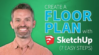 SketchUp Interior Design Tutorial — How To Create A Floor Plan (in 7 EASY Steps)