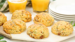 Breakfast Biscuits with Sausage & Cheddar | Low-Carb + Gluten-Free + Easy To Make