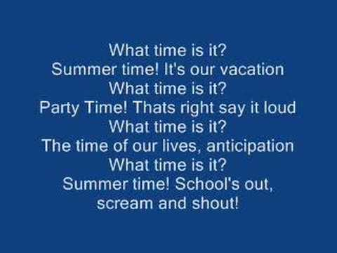 High School Musical 2 - What Time Is It? [Lyrics]
