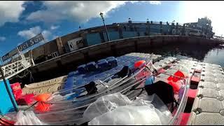 360 видео: Прозрачные байдарки, в яхт клубе Las Galetas