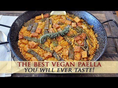 Authentic Spanish Vegan Paella Valenciana Recipe