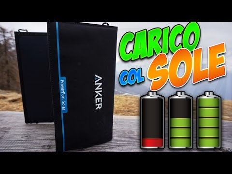 Caricabatterie ad ENERGIA SOLARE - PowerPort Solar