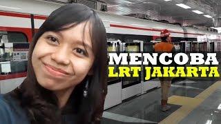 Rasakan Sensasi Naik Kereta Light Rail Transit (LRT) Jakarta saat Ujicoba Operasi Dilaksanakan