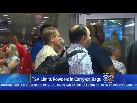 New TSA Rules On Powder Go Into Effect Today