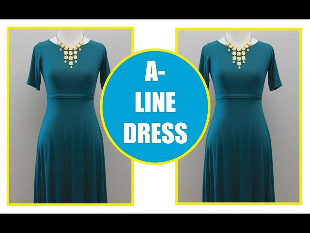 DIY How to sew an  A Line Dress | Sewing for Beginners | Sew Aldo
