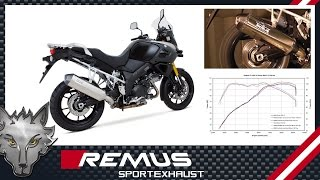 preview picture of video 'SUZUKI DL1000 V-Strom Mod. 2014 with REMUS OKAMI sport exhaust system'