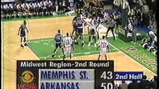 03/21/1992 NCAA Midwest Regional 2nd Round:  #6 Memphis State Tigers vs.  #3 Arkansas Razorbacks