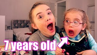 My LITTLE sister does my MAKEUP!!!