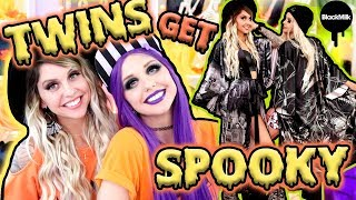 TRYING ON HALLOWEEN CLOTHES WITH MY TWIN!! | BlackMilk Neon Demons Collection ft. Poletti Twins