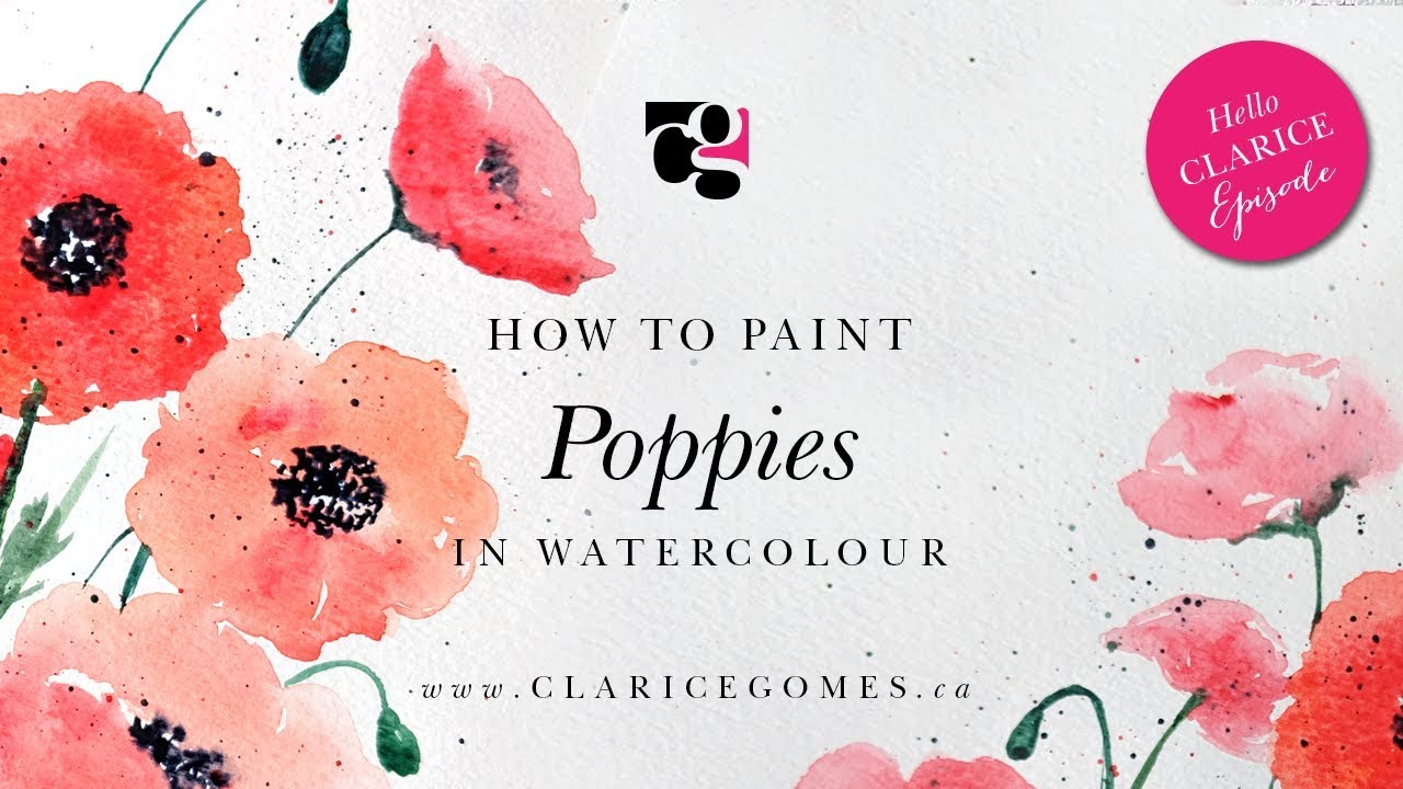 How to Paint Poppies in Watercolour