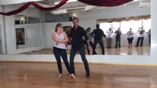Reno Swing Dance -hip catch, traveling arm fold