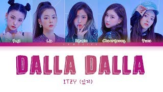 ITZY - DALLA DALLA (있지 - 달라달라) [Color Coded Lyrics/Han/Rom/Eng/가사]