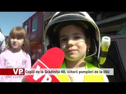 Copiii de la Grădinița 40, viitorii pompieri de la ISU