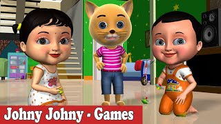 Johny Johny Yes Papa Sports & Games Nursery Rhyme - 3D  Rhymes & Songs for Children