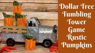Fall Crafts: Dollar Tree Tumbling Tower Game Pumpkins