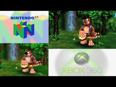 BANJO KAZOOIE : N 64 - XBOX 360 Comparison