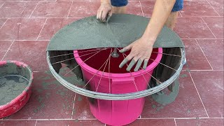 Great Ideas For Garden Design And Decoration From Cement | Technique Making Aquarium And Flower Pots