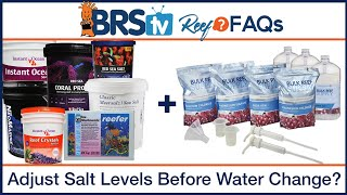 Adjusting the levels of your saltwater mix prior to use in the reef tank - ReefFAQs