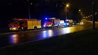 Dwie osoby nie żyją po uderzeniu opla w słup na ul. Nadbystrzyckiej w Lublinie