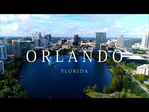 Orlando Florida Day/Night Aerial City View | 4K