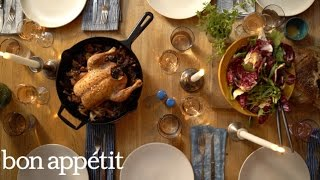 Slow Roasted Skillet Chicken with Mushrooms | Bon Appetit