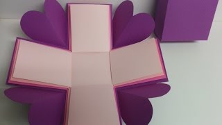 #diy Art and #craft #tutorial : #how to make basic explosion box / #explosionbox