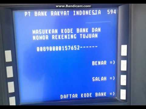 Cara transfer via ATM Bri ke mandiri