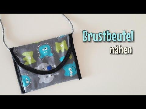 Brustbeutel - Nähanleitung - OHNE Schnittmuster - Für Anfänger - Nähtinchen