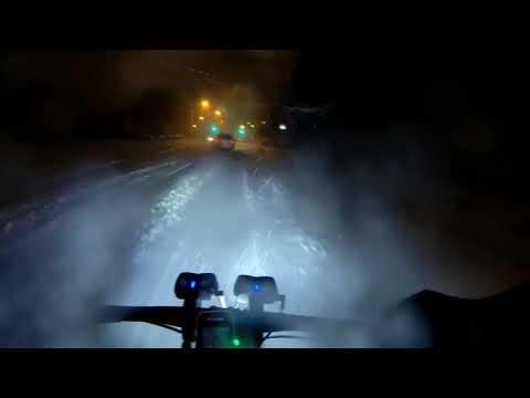 Work Commute In A Snow Storm. No Edits. Surly Moonlander Fat Bike