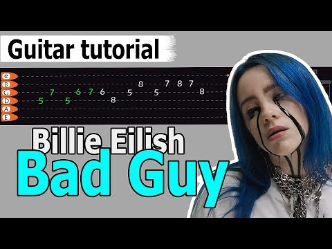 Download Billie Eilish - Bad Guy Easy Guitar Tutorial, Chords, How to Play, Guitar Lesson Mp4 HD Video and MP3