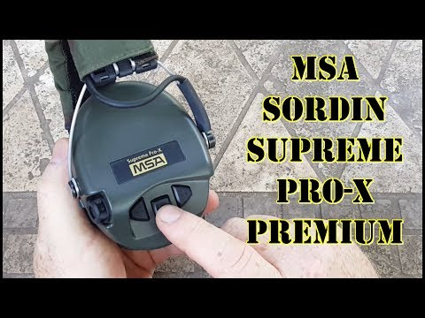 Best Hearing Protection for Shooting? MSA Sordin Supreme Pro-X Premium Edition Review