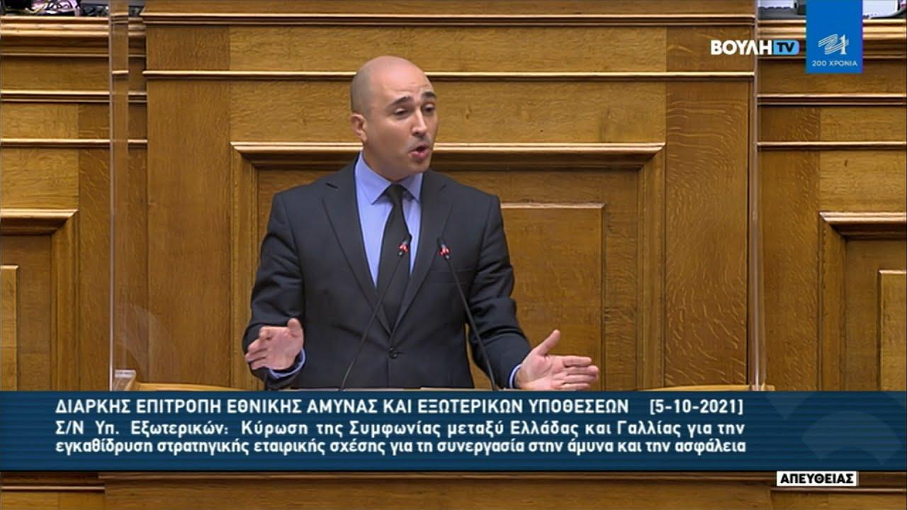 Έντονη αντίδραση του Ν. Δένδια στη βουλή σε αναφορές του βουλευτή για τον εμφύλιο