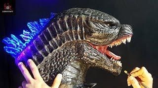 Godzilla Sculpture Timelapse - King of the Monsters