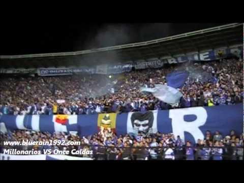 """""""millonarios vs once caldas CUARTOS DE FINAL 1"""" Barra: Blue Rain • Club: Millonarios"""