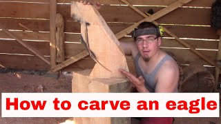How To Chainsaw Carve A Basic Eagle