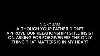 El Perdón-Nicky Jam Ft. Enrique Iglesias (English Lyrics)