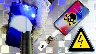 Apple iPhone X vs USB Killer & Burning Laser!