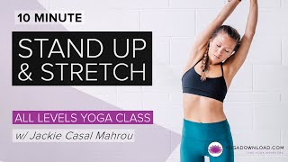Stand Up and Stretch - FREE CLASS by YogaDownload.com