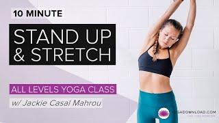 站立伸展 - 免費課程 出處 YogaDownload.com