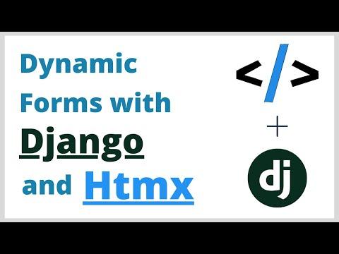 Django Dynamic Forms Tutorial with Htmx thumbnail
