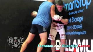 Future UFC Champ Khabib Nurmagomedov grappling with Luke Rockhold