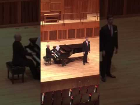 "Performing an aria from Mozart's ""The Magic Flute"" in a recital"