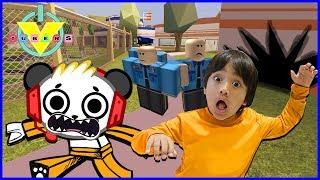 VTubers Ryan Vs. Combo Panda Let's Play Jailbreak Ep 3 GET AWAY DRIVER